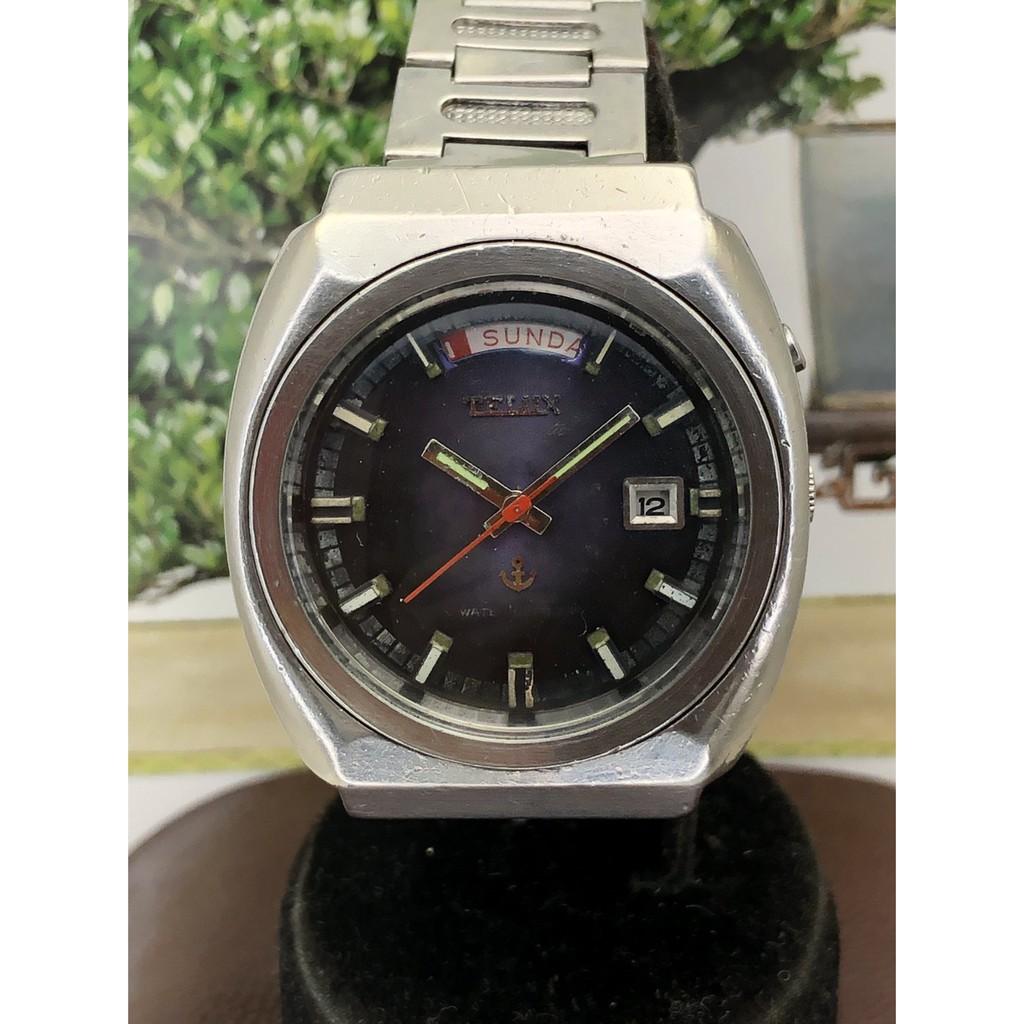 二手鐵力士TELUX 大錶徑自動上鍊機械男錶 日期星期顯示