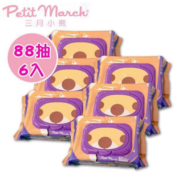 三月小熊 Petit March 海洋深層水濕巾 88抽-6包(厚款) /濕紙巾
