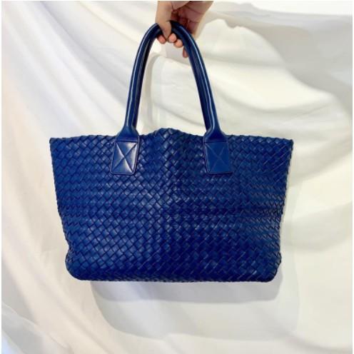 全新Bottega Veneta Cabat tote handbag BV Cabat 藍色款編織 小托特手袋