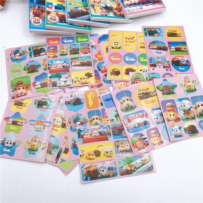 台灣現貨  天竺鼠車車盒裝貼紙  天竺鼠車車 貼紙 日記貼 裝飾貼