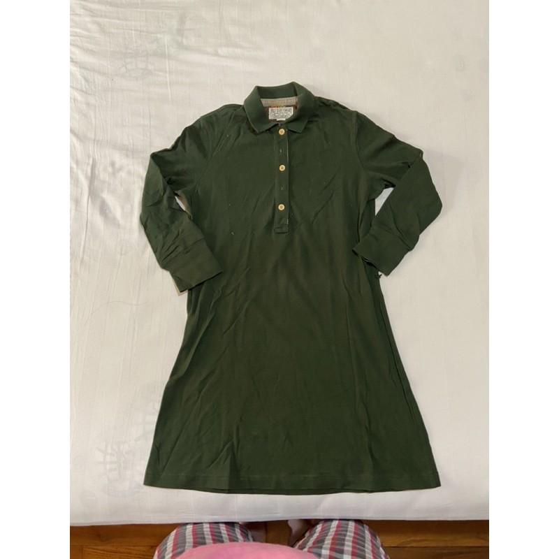Polo 墨綠長版洋裝 XS
