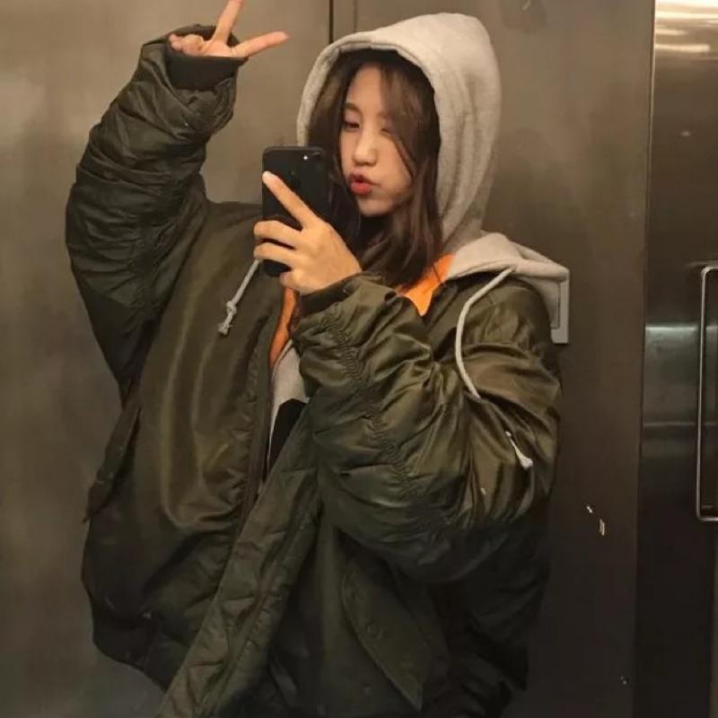 韓國帥氣風飛行外套