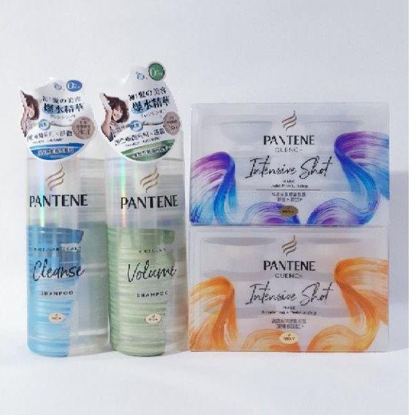 潘婷 淨化極潤系列 綠色蓬鬆 藍色淨澈 洗髮露500ml 高濃保濕膠囊髮膜(輕盈水潤/密集修護型) 12ml×6顆