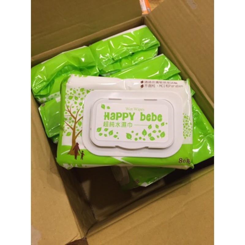 全新一箱 Happy Bebe濕紙巾 86抽有蓋12包