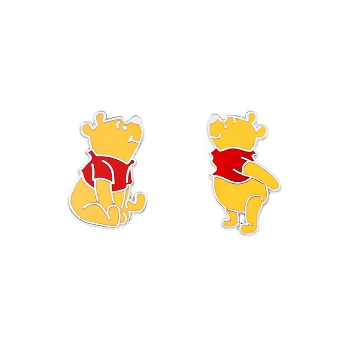 【小熊維尼】維尼珐瑯組合B 針式貼耳