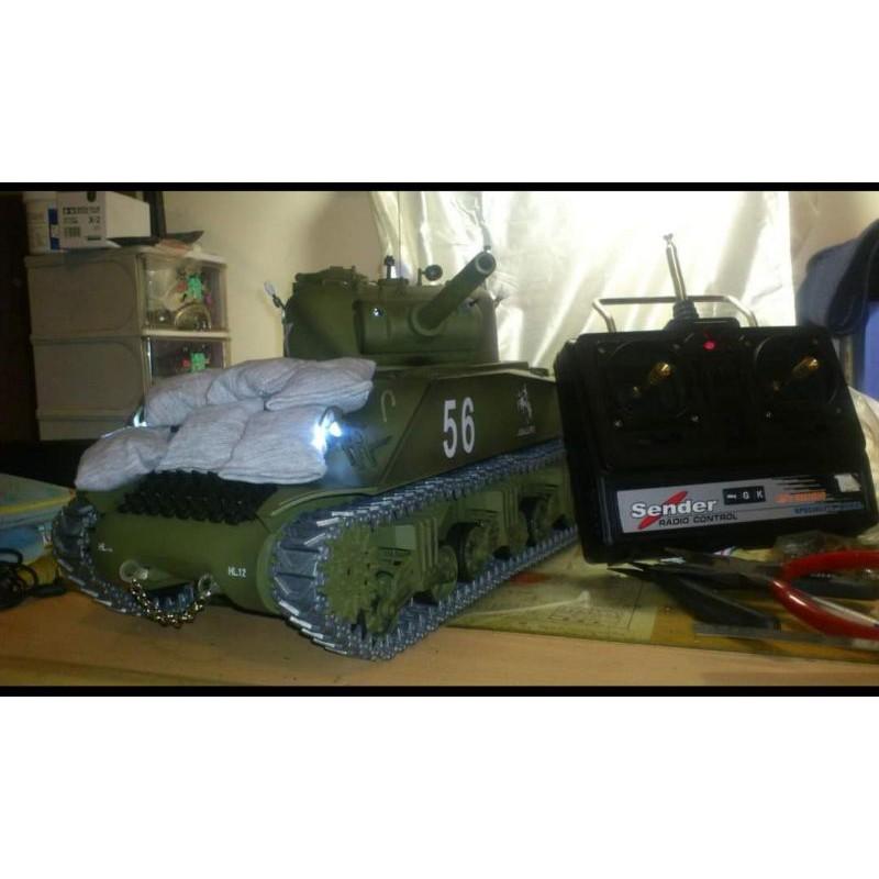 rc 遙控 雪曼 戰車 坦克 模型