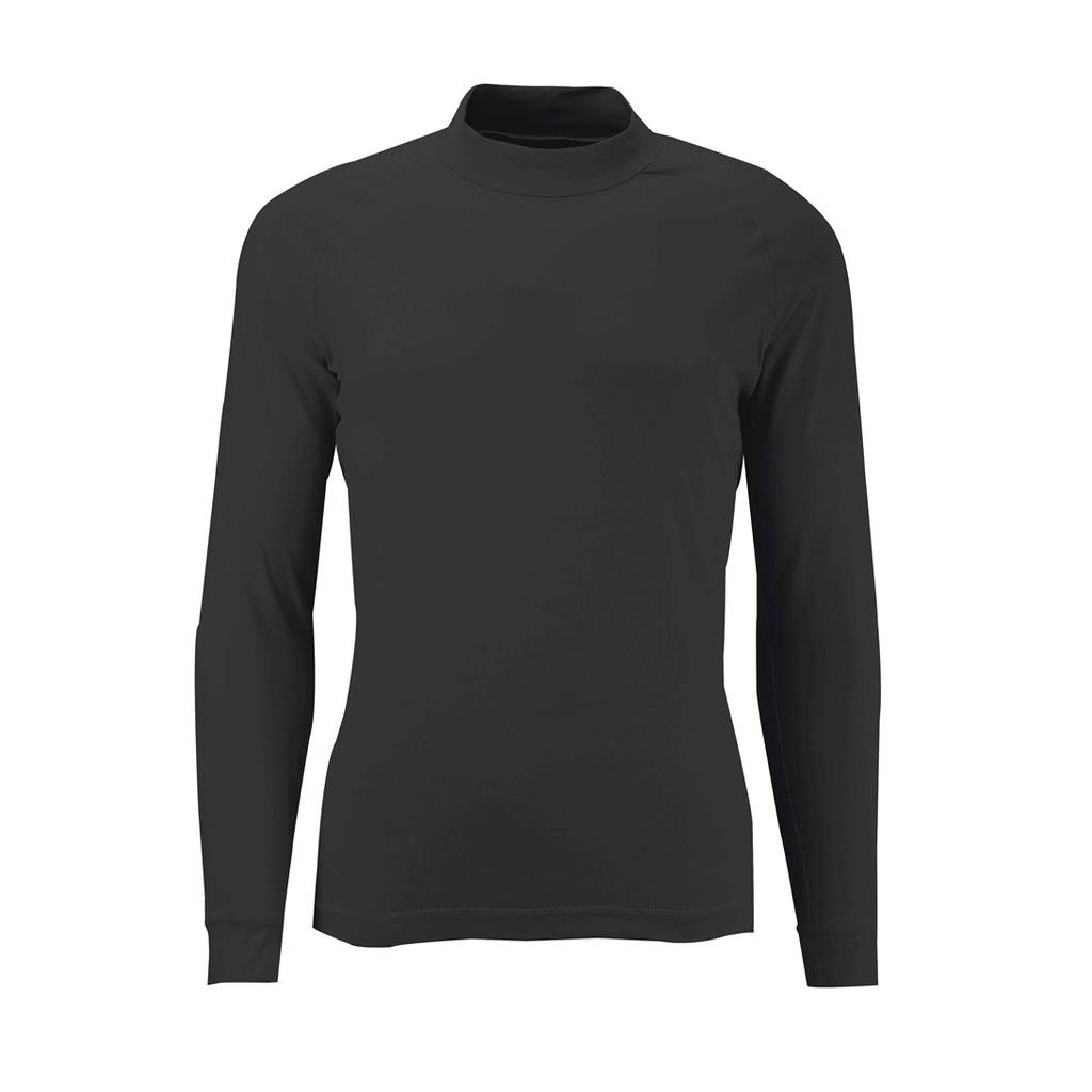 【Wildland 荒野】男透氣排汗抗UV長袖上衣 W1692-54黑色 休閒服/快乾機能衣/團體服 /吸濕/野雁生活