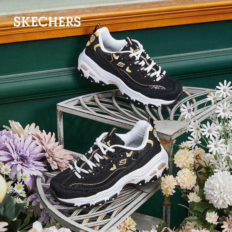 【萌量不足】Skechers斯凱奇女鞋新品蝴蝶刺繡熊貓鞋復古厚底鬆糕老爹鞋13170