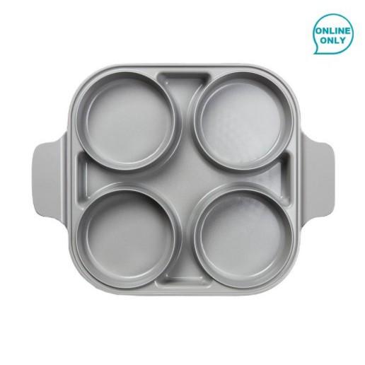 《好市多線上購物》Neoflam 雙耳四格多功能煎鍋含蓋 28公分