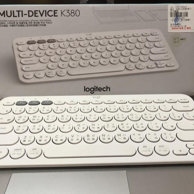 ✨二手 Logitech羅技 K380 藍牙鍵盤 無線鍵盤(白色)