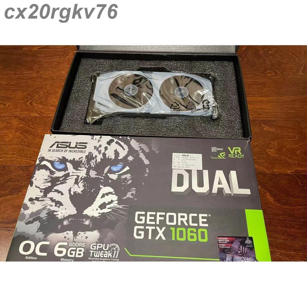 【滿299免運】華碩Asus dual gtx1060 6gb OC顯示卡