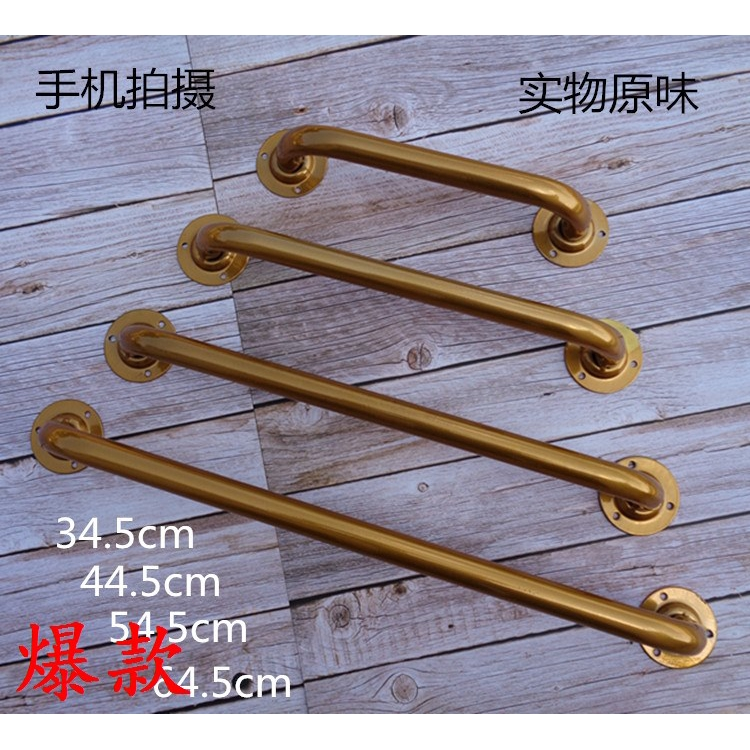 熱銷¥工業風金色水管門把手復古鐵藝水管拉手門把手木門櫥柜門把手明裝7o5