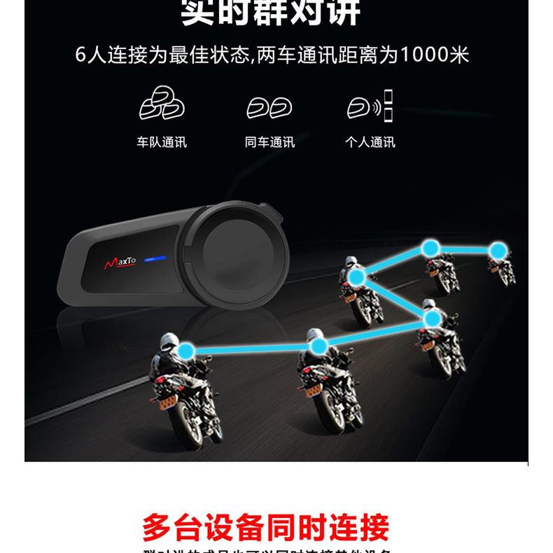 Maxto M2頭盔藍牙耳機摩托車行車記錄儀機車騎行無線耳機一體M3S機車騎士汽配3C攝像攝影出行