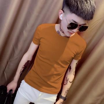 男生T恤 S-5XL 精神小夥純色半袖男 緊身圓領短袖T恤 百搭社會人打底衫潮男 時尚潮流T恤 簡約個性純色T恤