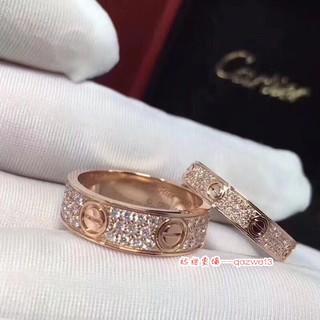 崽崽💗Cartier卡地亞滿天星戒指 鈦鋼戒指 鍍18k玫瑰金不變色 情侶螺絲釘鑲鑽Cartier戒指 戒指 桃園市