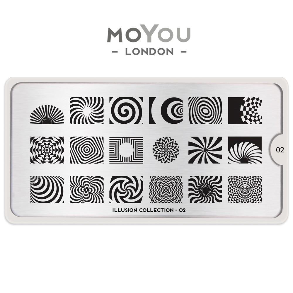 MoYou 指彩印花鋼板 美甲 轉印鋼板 NO156錯覺幻影Illusion02無與倫比