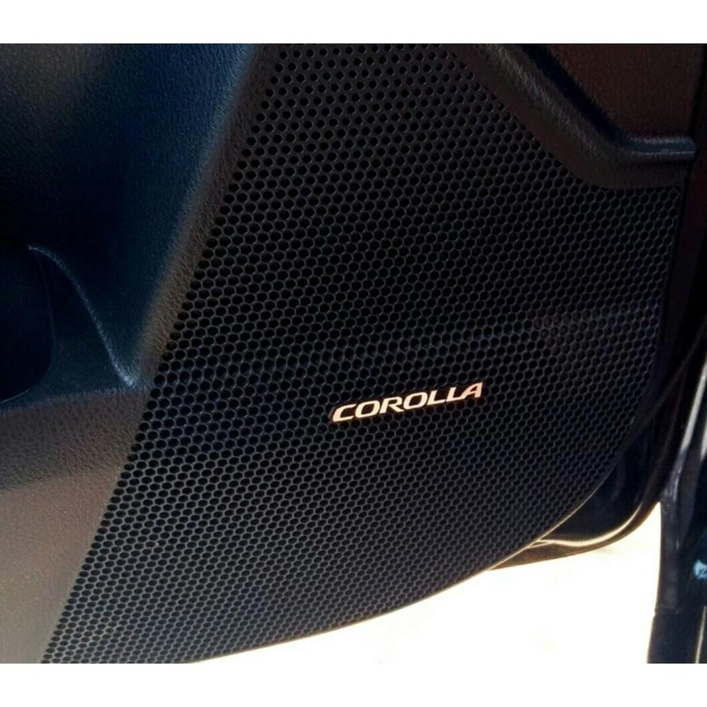 14-17款 VIOS ALTIS Camry TOYOTA C-HR RAV4 車貼改裝專用音響喇叭裝飾貼音箱字標