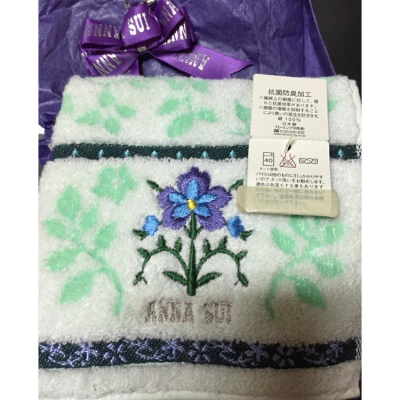 Anna Sui 小毛巾 專櫃購入 情人節送禮最佳選擇 日本製 手帕