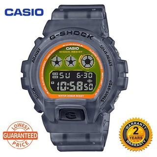 CASIO 卡西歐 G-Shock Dw6900 數字運動手錶男士手錶白色 Dw-6900Nb-7