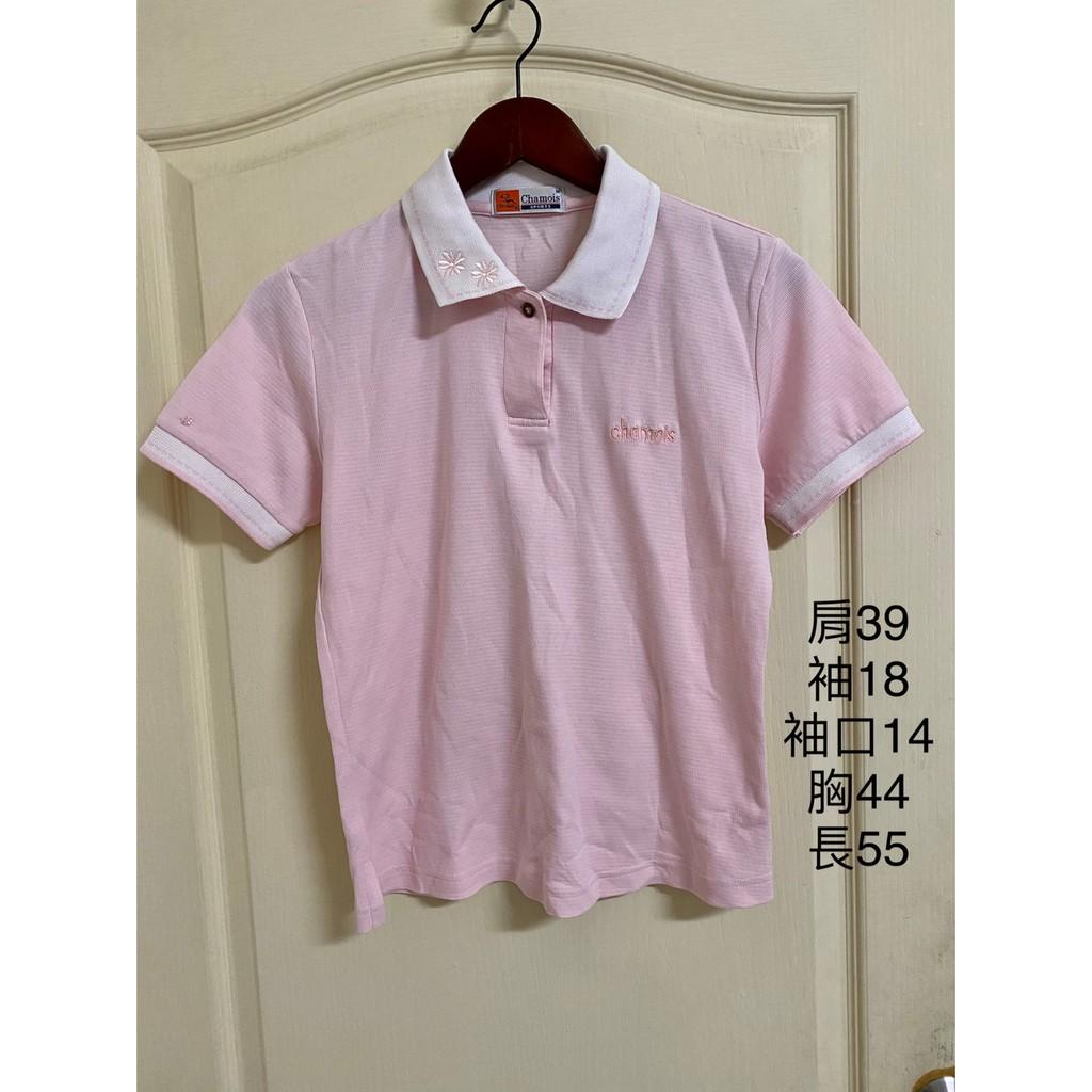 特價品~[專櫃] Chamois加摩仕  運動休閒 POLO杉  短袖上衣 T恤 粉 M
