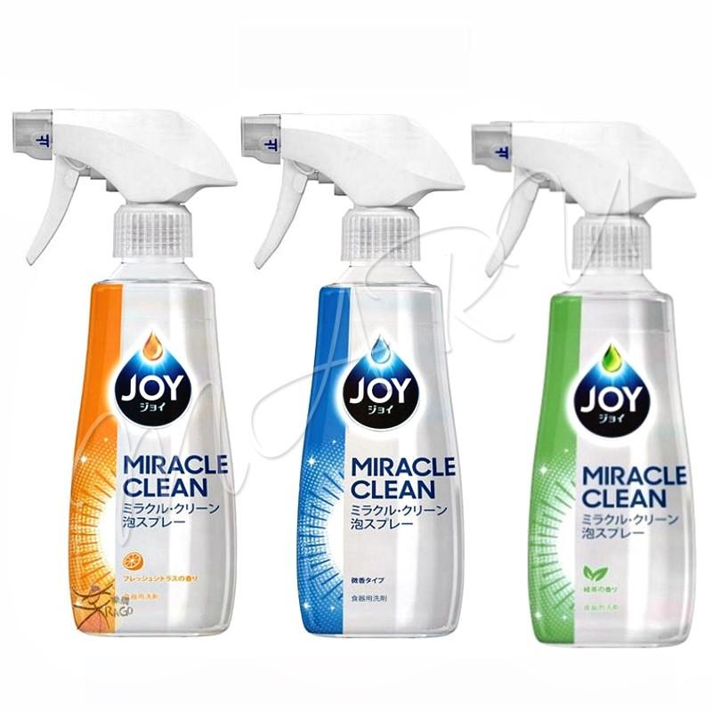 【現貨 免運】日本製造 P&G JOY 奇蹟泡沫噴霧洗碗精 300ml 不傷手 去油污 加倍去油清潔劑 洗潔精 沙拉脫
