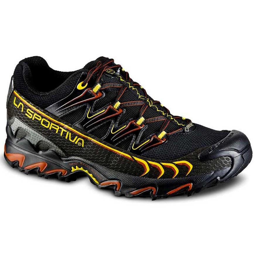 LA SPORTIVA 男 Ultra Raptor GTX 防水透氣越野跑鞋 登山鞋 黑/黃 26RBY 綠野山房