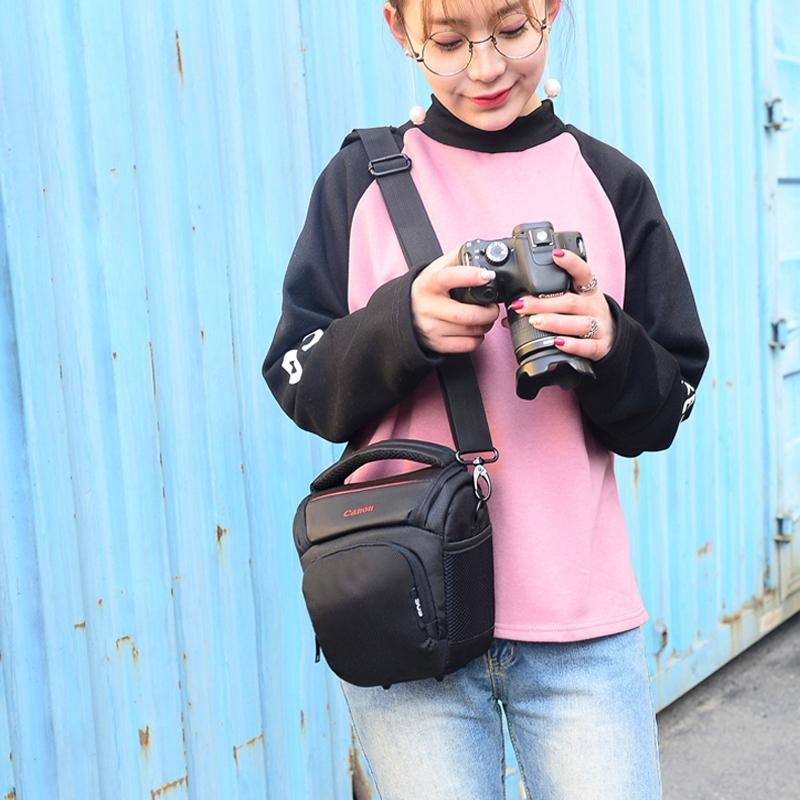 佳能相機包單反便攜男女三角包攝影包200D750D800D5D41500d60D80D