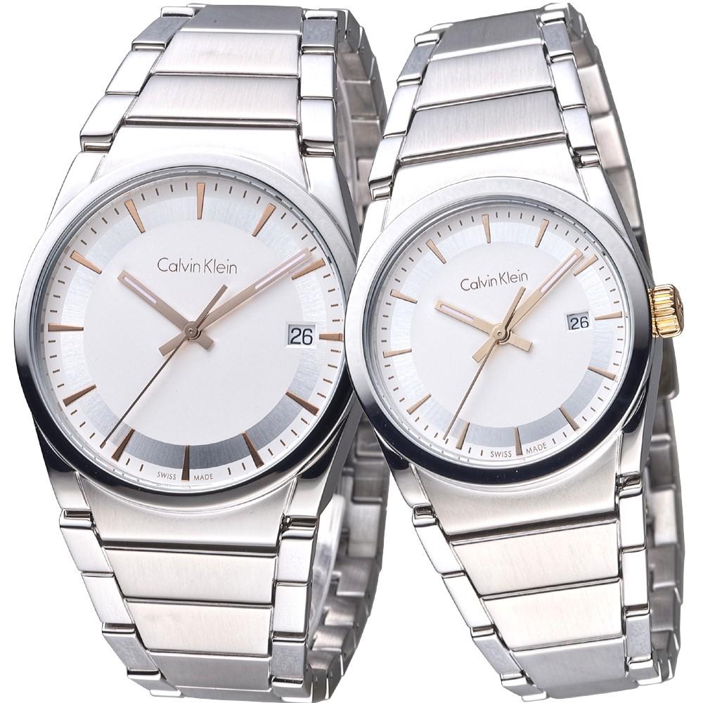 【ck】卡文克萊手錶 K6K31B46+K6K33B46 真愛經典都會情人對錶_瑞士製,保固二年,超值搶購