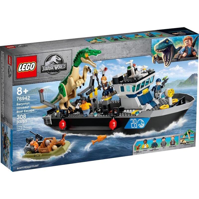 LEGO 樂高 76942 Jurassic 系列 重爪龍快艇逃脫