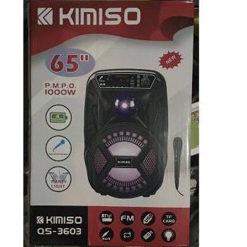 "KIMISO QS-3603 藍芽喇叭 附麥克風卡拉OK/USB/七彩燈光/6.5""重低音喇叭1000W 全新"
