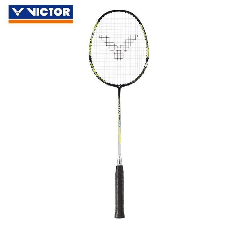 100%正品Victor JETSPEED JS12碳素羽毛球拍Raquette羽毛球拍帶贈品