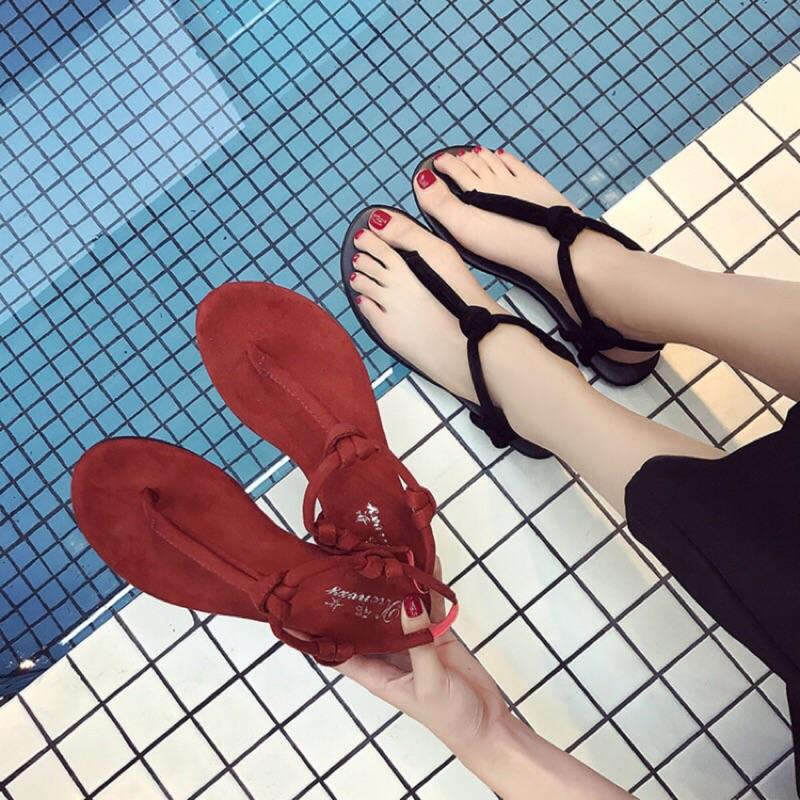 預購韓國簡約羅馬涼鞋 百搭時尚 平底鞋