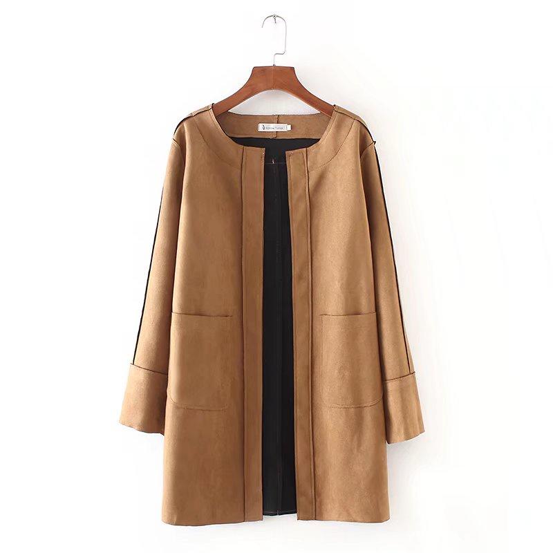 大碼 Chamois 夾克休閒純色復古秋冬外套