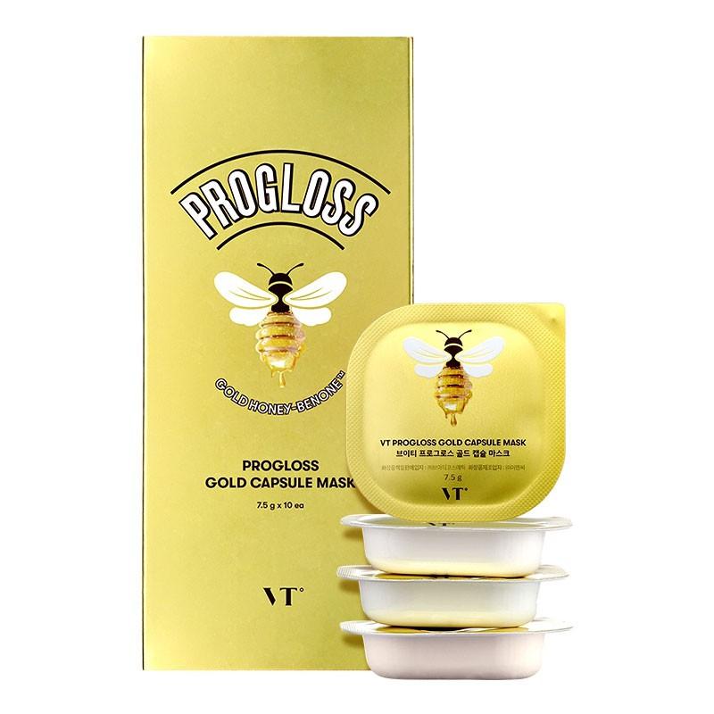 韓國 VT 黃金蜂蜜泥膜 (盒裝/10入) 7.5gx10 泥膜 面膜 小布丁泥膜 清潔