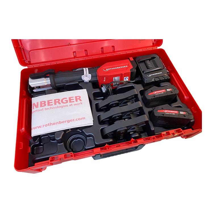 德國ASADA ROMAX 4000 水管壓接機 不鏽鋼管 大全配 付雙電一充 新款薄電池  18V 4頓 螢宇五金