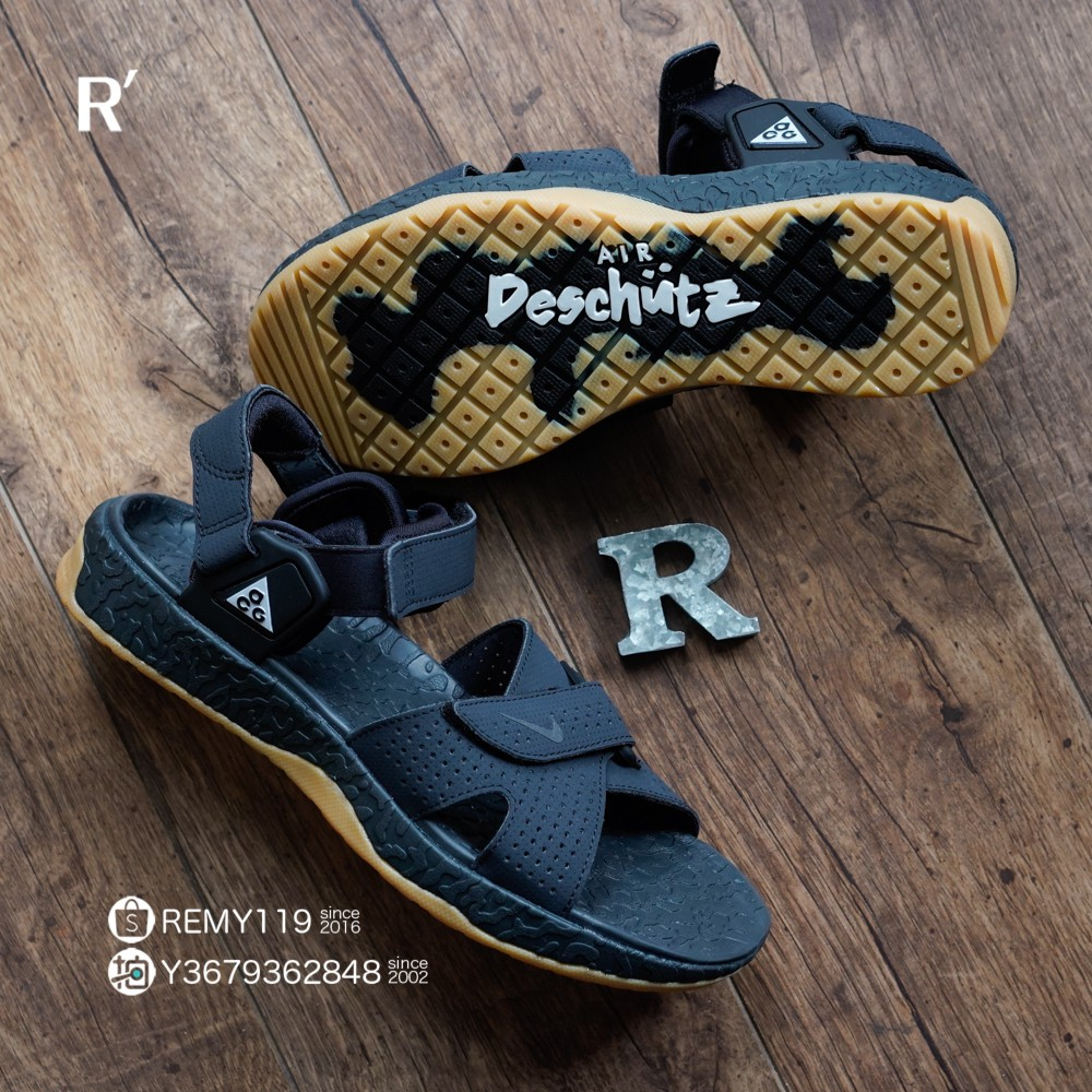 R'代購 Nike ACG Air Deschutz 黑黃膠底 山系 運動涼鞋 CT3303-001 男女