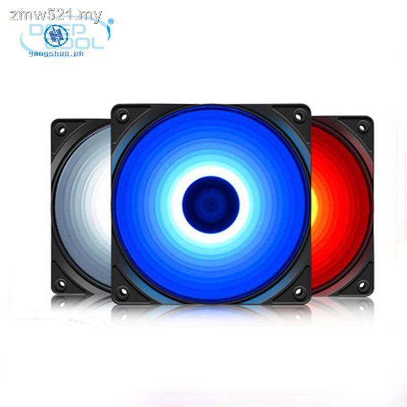 _ Deepcool Rf120 120mm Led 紅色藍色白色機箱風扇靜音 3pin 和 Ide 4pin Mole