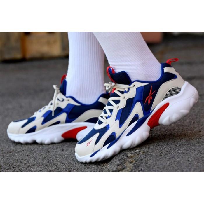 REEBOK DMX SERIES 1000 運動鞋 慢跑鞋 復古 老爹 白色黑藍 Dv8744