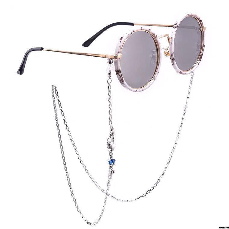 口罩鏈12星座眼鏡鏈條掛脖時尚裝飾女網紅簡約防滑墨鏡眼睛二用鏈