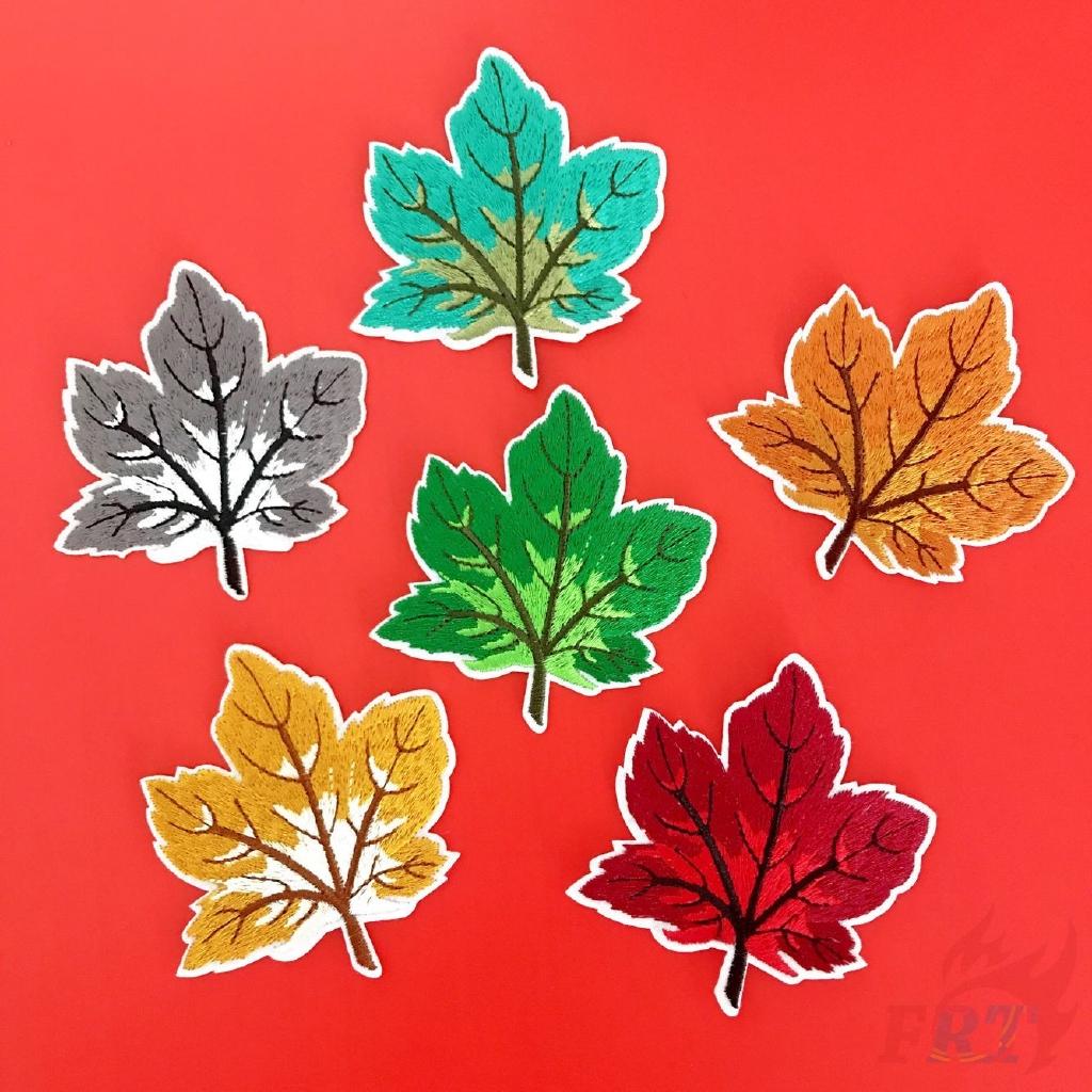 > <植物-楓葉補丁1Pc加拿大在鐵補丁上留下Diy縫製