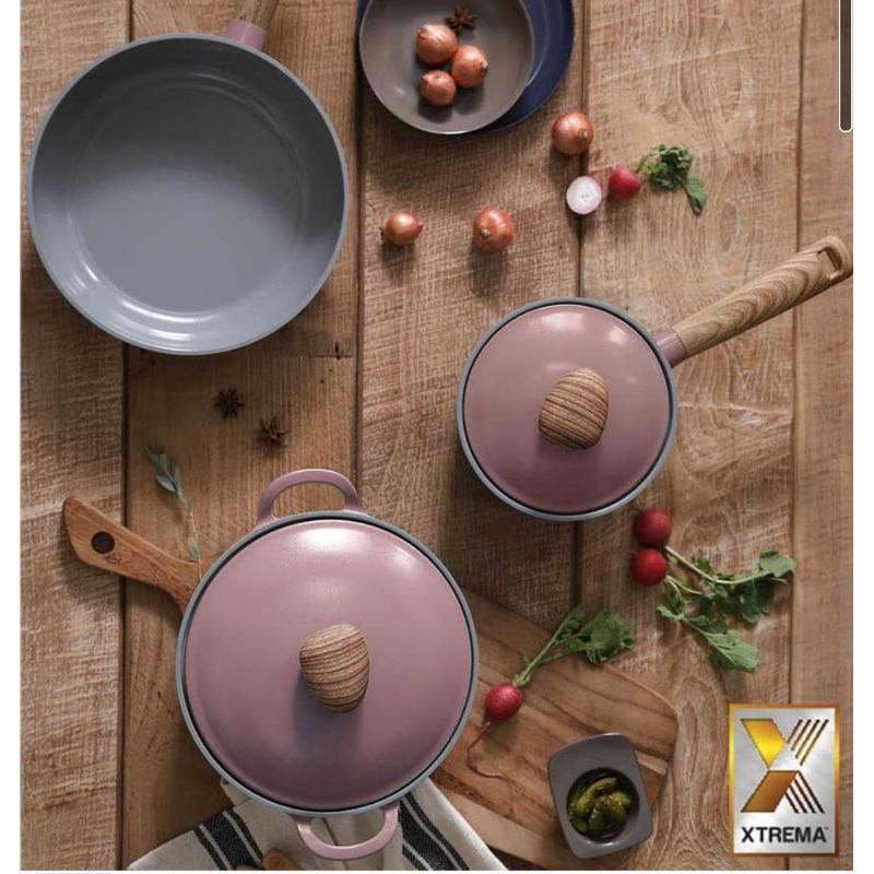 🇰🇷韓國製Neoflam retro木紋公主系列  乾燥玫瑰粉 牛奶鍋/雙耳鍋