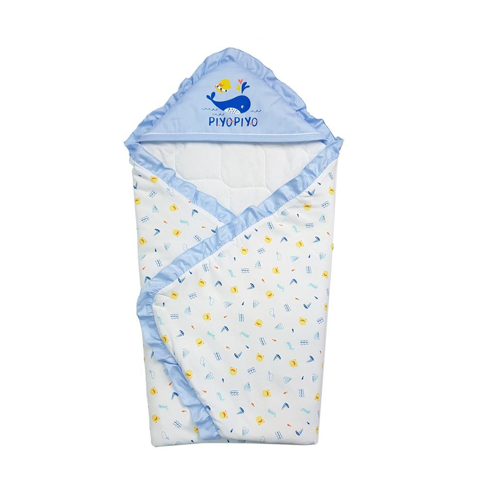 黃色小鴨PiyoPiyo - 荷葉四季包巾海洋版(淺藍)(黃色小鴨官方直營)