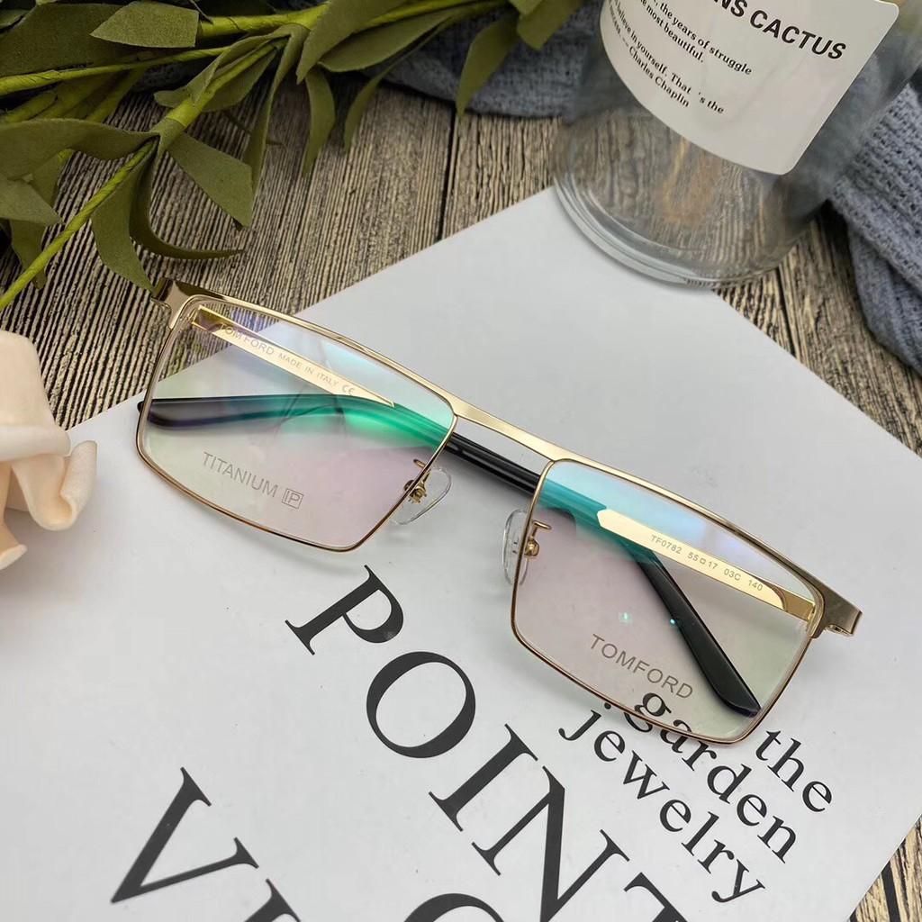 歐洲購湯姆福特TOMFORD純鈦超輕方形眼鏡架商務款個性時尚近視眼鏡TF0782