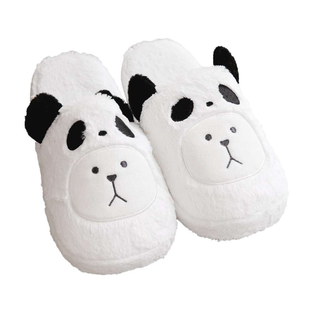 CRAFTHOLIC 宇宙人 黑熊貓熊熊室內拖鞋