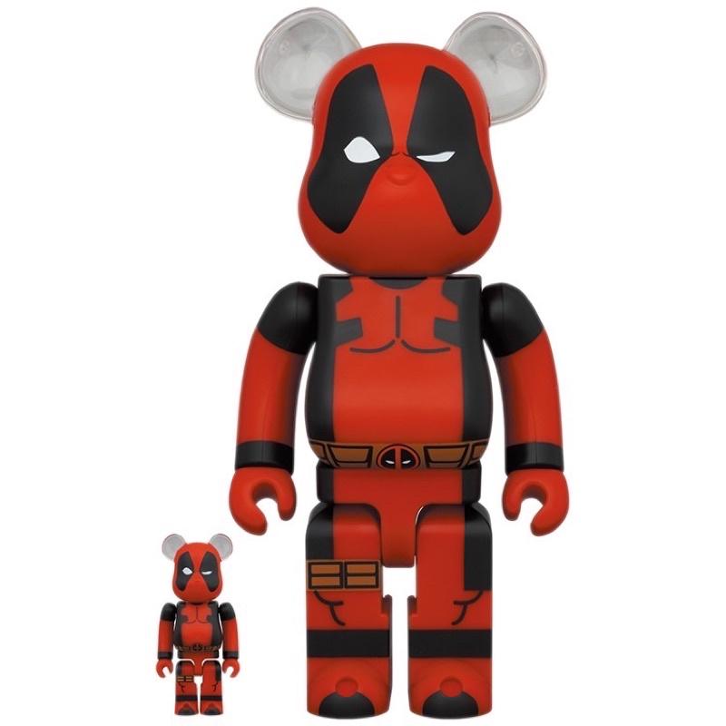 「全新現貨」死侍 BEARBRICK BE@RBRICK  Deadpool 鋼鐵蜘蛛人 400%+100%