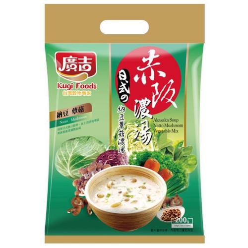 廣吉 赤阪濃湯-納豆蕈菇(20gx10包/袋)[大買家]
