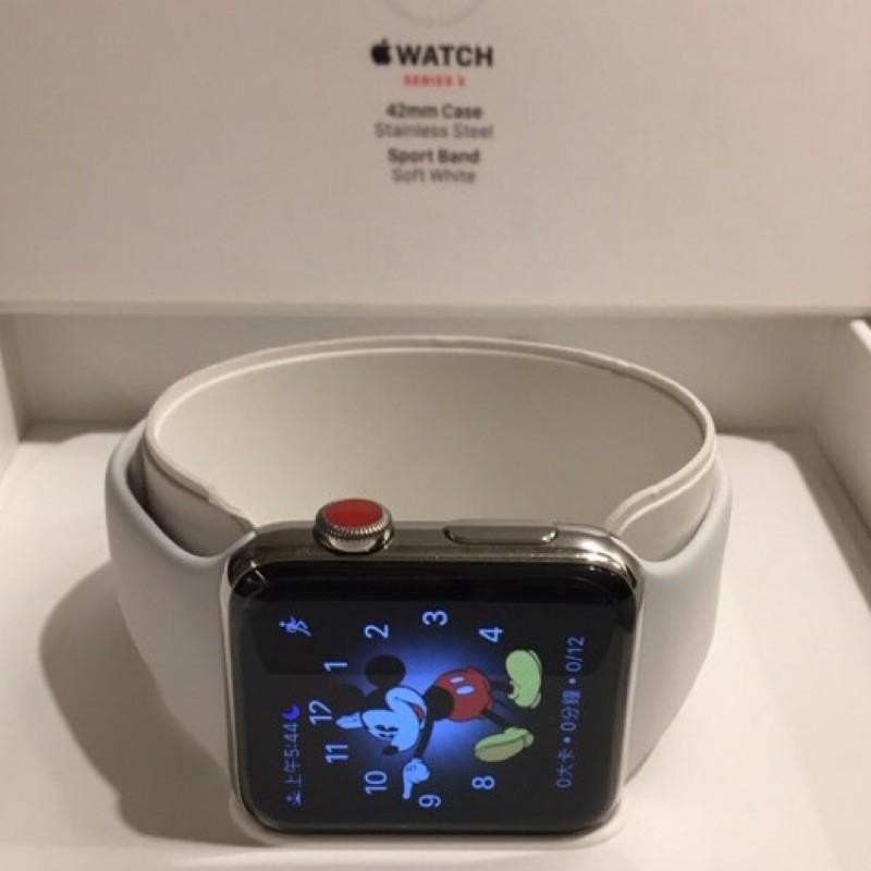 [此為不鏽鋼版本]Apple Watch Series 3 42mm(LTE)
