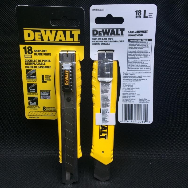 🇺🇸得偉DeWALT 18mm 美工刀