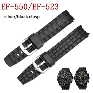 CASIO 卡西歐 Edifice 系列 Ef-550 /  Ef-523 橡膠樹脂錶帶