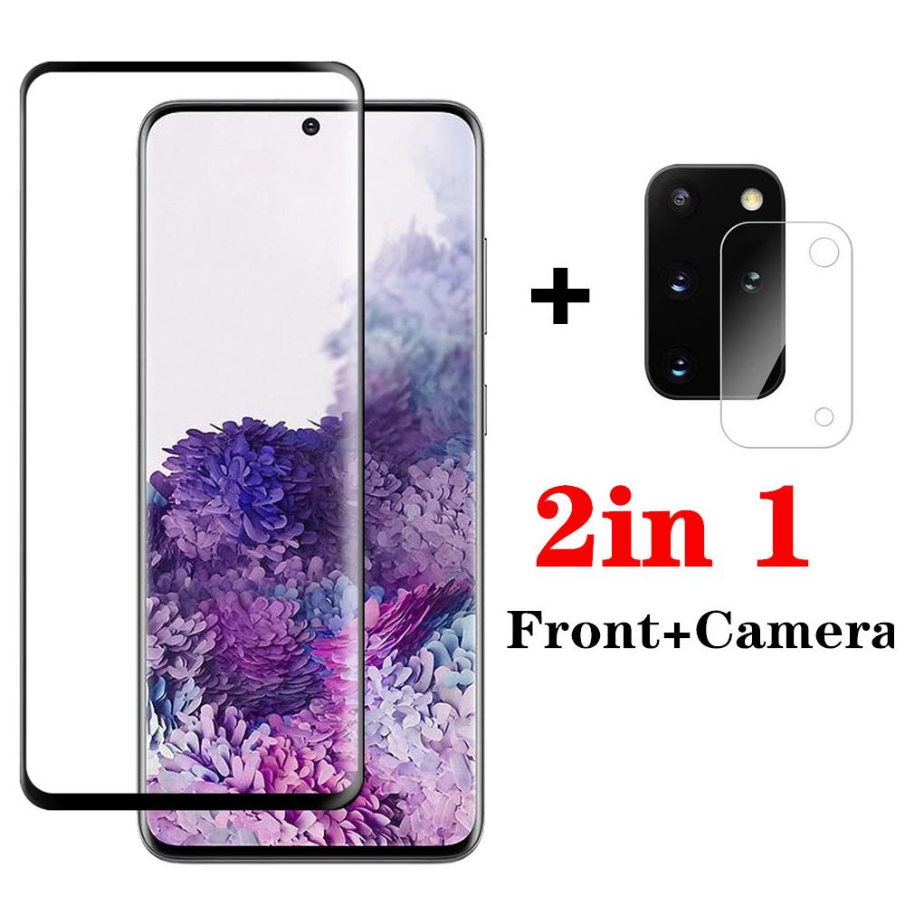 適用於 Samsung Galaxy S21 Ultra S20 S21 Plus 5G 相機鏡頭屏幕保護膜的 2 合